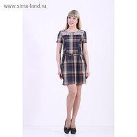 Платье женское, размер 46, цвет коричневый