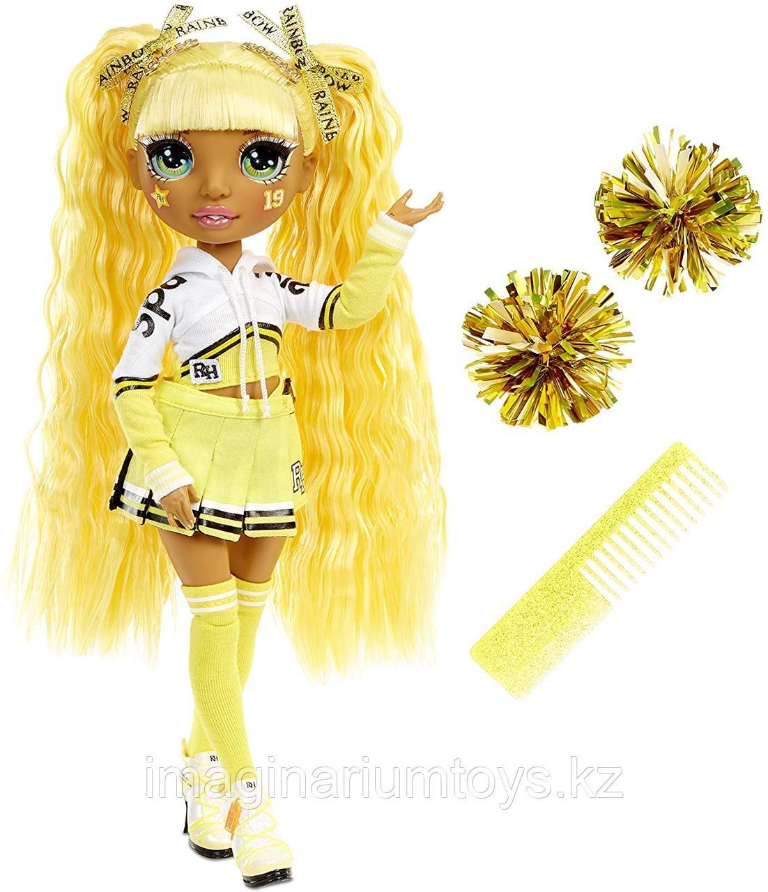Кукла Реинбоу Хай золотая Rainbow High Sunny Madison Чирлидер