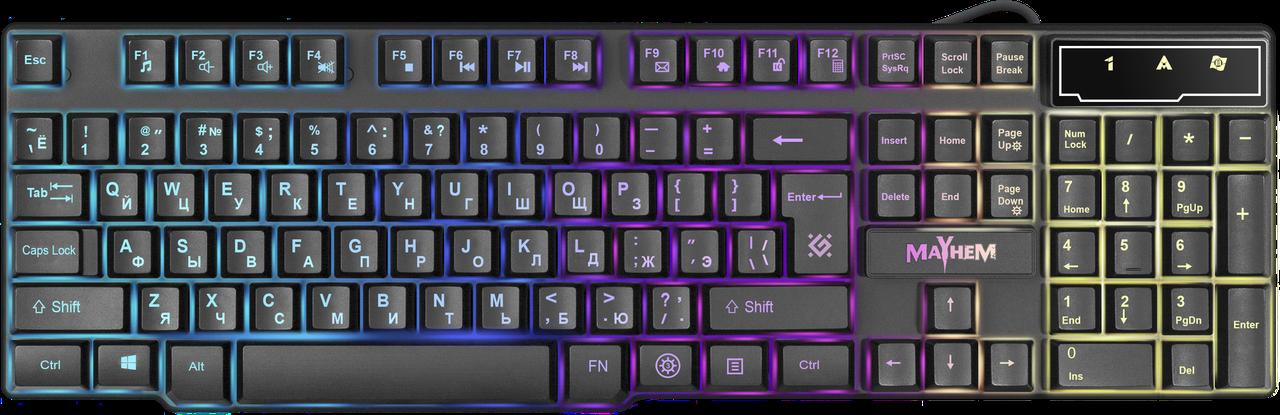 Клавиатура проводная игровая Defender Mayhem GK-360DL