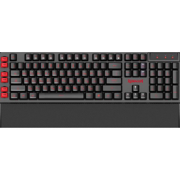 Клавиатура проводная игровая Redragon Yaksa  (Черный), USB, ENG/RU, НОВИНКА!