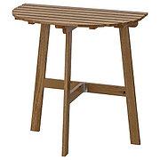 ASKHOLMEN АСКХОЛЬМЕН Пристенный стол, садовый, складной светло-коричневая морилка70x44 см