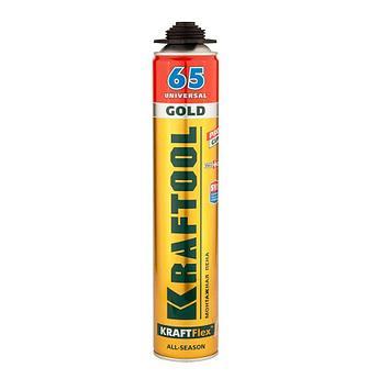 (41194) Пена KRAFTOOL Goldkraft GOLD PRO 65 профессиональная полиуретановая, для монтажного пистолет