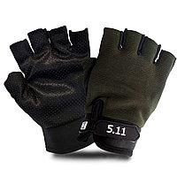 Перчатки для фитнеса и тренажеров турника противоскользящие (без пальцев) хаки