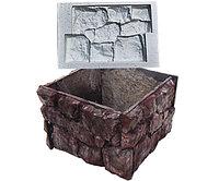 Комплект форм для квадратного вазона Бутовый камень (540х540х390 мм)