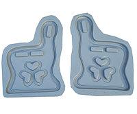 Форма для скамейки №2 LOVE со спинкой (870х590х55 мм)