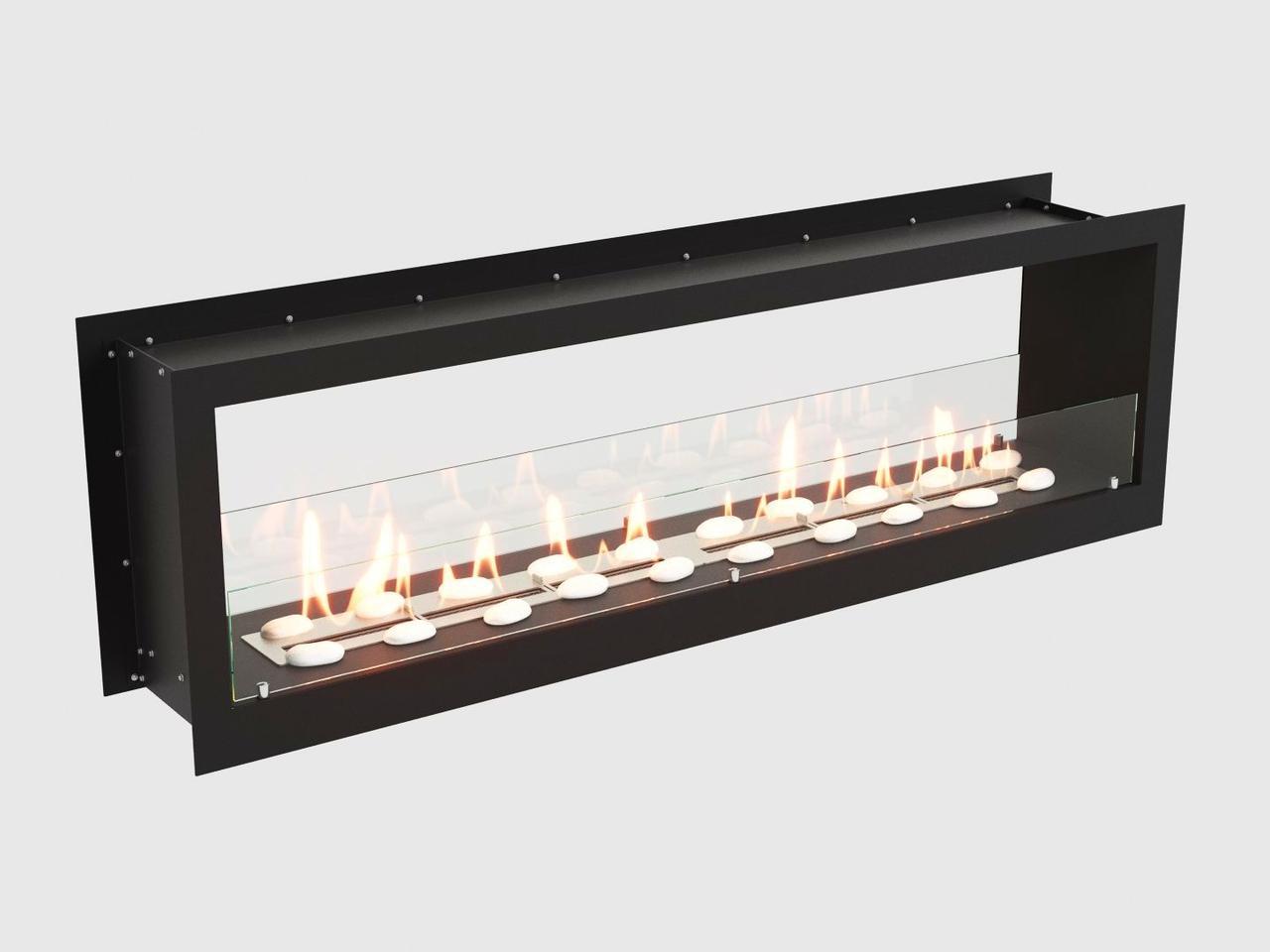 Встроенный биокамин Lux Fire Cквозной 1710 M