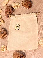 Мешочек для хранения из бязи с биркой handmade ручная работа заготовка для творчества