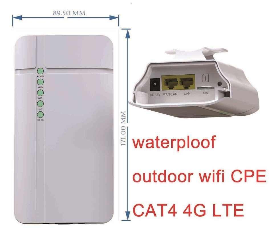 Промышленный 4g lte уличный cpe Wi-Fi роутер дальнего действия со слотом для sim-карты