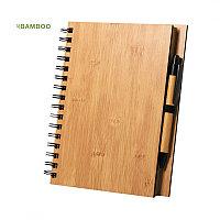Набор из блокнота  и шариковой ручки POLNAR, бамбук, светло-коричневый, , 346401