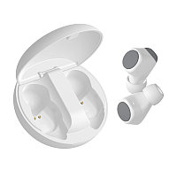 Наушники беспроводные GEOZON SPACE, с зарядным боксом, покрытие soft touch, белые, Белый, -, 36803 01