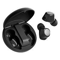 Наушники беспроводные GEOZON SPACE, с зарядным боксом, покрытие soft touch, черные, Черный, -, 36803 35