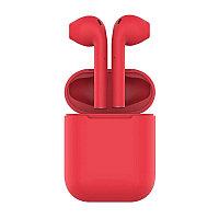 Наушники беспроводные с зарядным боксом TWS AIR SOFT, цвет красный , Красный, -, 36720 08