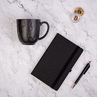 Набор подарочный BLACKNGOLD: кружка, ручка, бизнес-блокнот, коробка со стружкой, черный, , 35064, фото 1