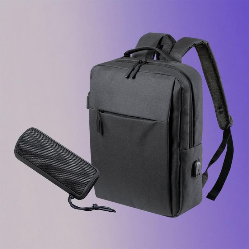 Набор подарочный CITYSOUND: колонка беспроводная, рюкзак, черный , Черный, -, 35065 35