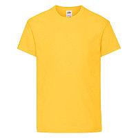 Футболка детская KIDS ORIGINAL T 145, Желтый, 140, 610190.34 140