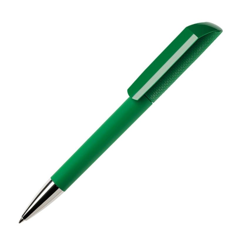 Ручка шариковая FLOW, покрытие soft touch, Зеленый, -, 29472 15