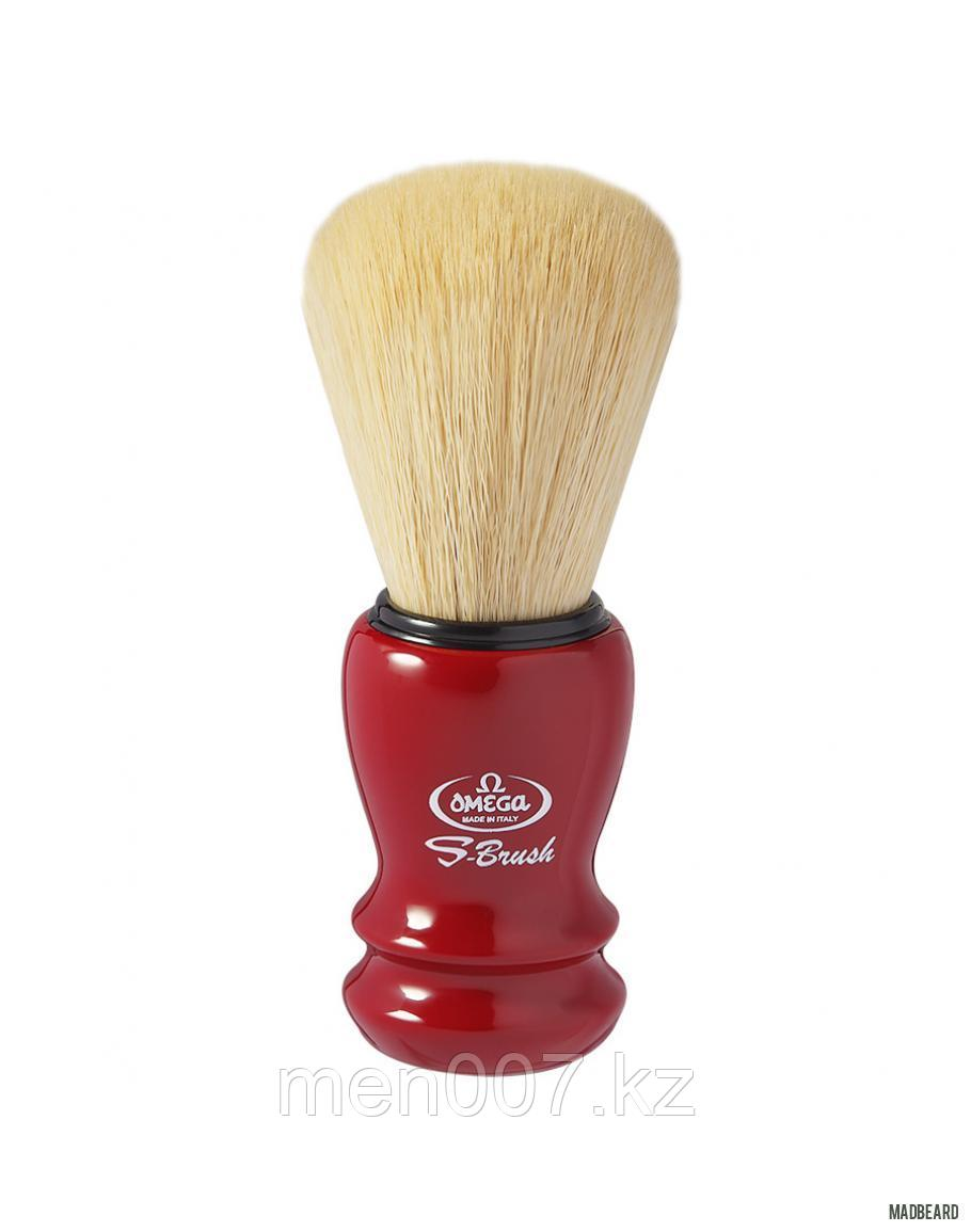 Помазок для бритья Omega S-Brush (Красный)