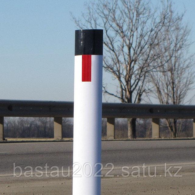 Пластиковый дорожный сигнальный столбик С3 ГОСТ Р 32843, 50970