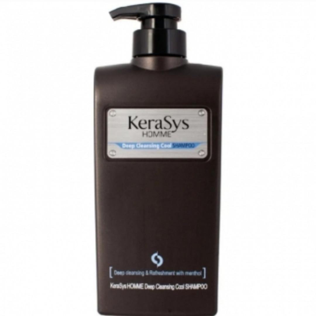 Мужской шампунь от перхоти с ментолом KeraSys Homme Deep Cleansing Cool Shampoo 550ml.