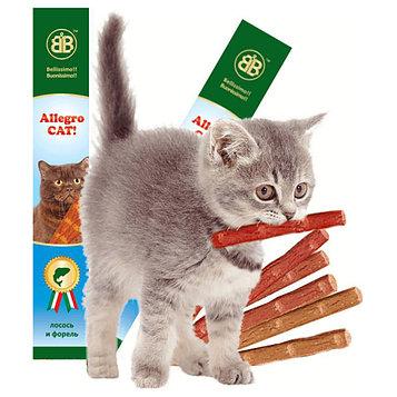 Allegro Лакомство для кошек Колбаски с лососем и форелью