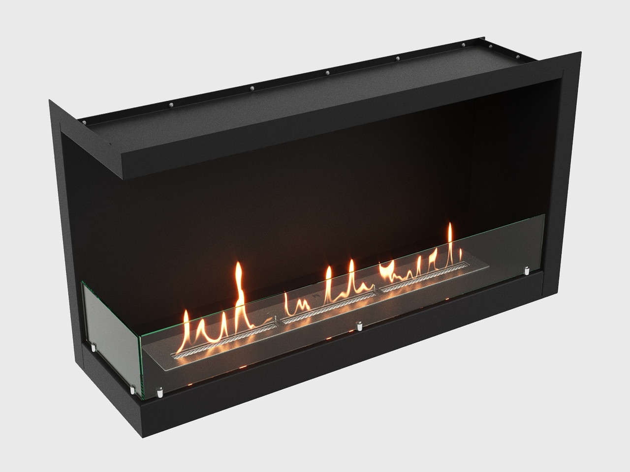 Встроенный биокамин Lux Fire Угловой 1155 М (левый угол)