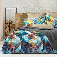Wenge Комплект постельного белья Kaleidoskope,  WENGE, 2 спальный евро (наволочки 70х70),