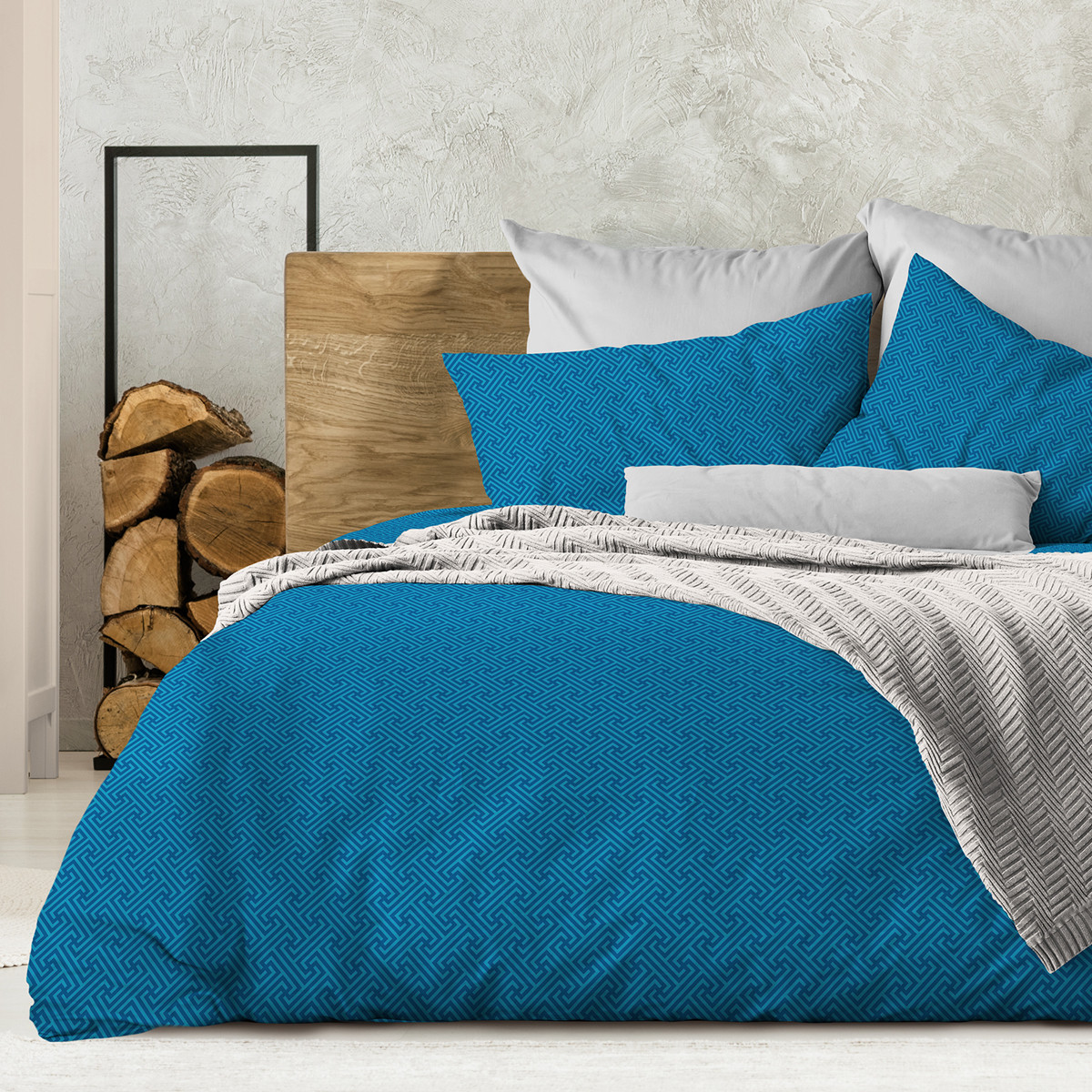 Wenge Комплект постельного белья Silver azure,  WENGE, 2 спальный евро (наволочки 70х70),