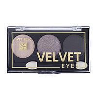 BV VITEX Тени для век компактные VELVET EYES тон 01 Smoky eyes