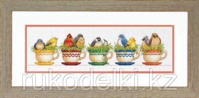 """Набор для вышивания крестом """"Птицы в чайных чашках"""""""