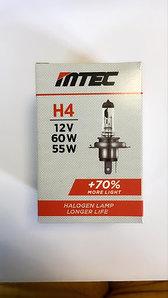 Автолампа H4 MTEC 12V 60/55W+70%