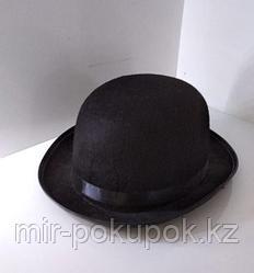 Шляпа карнавальная блестящая (черная) в ассотрименте