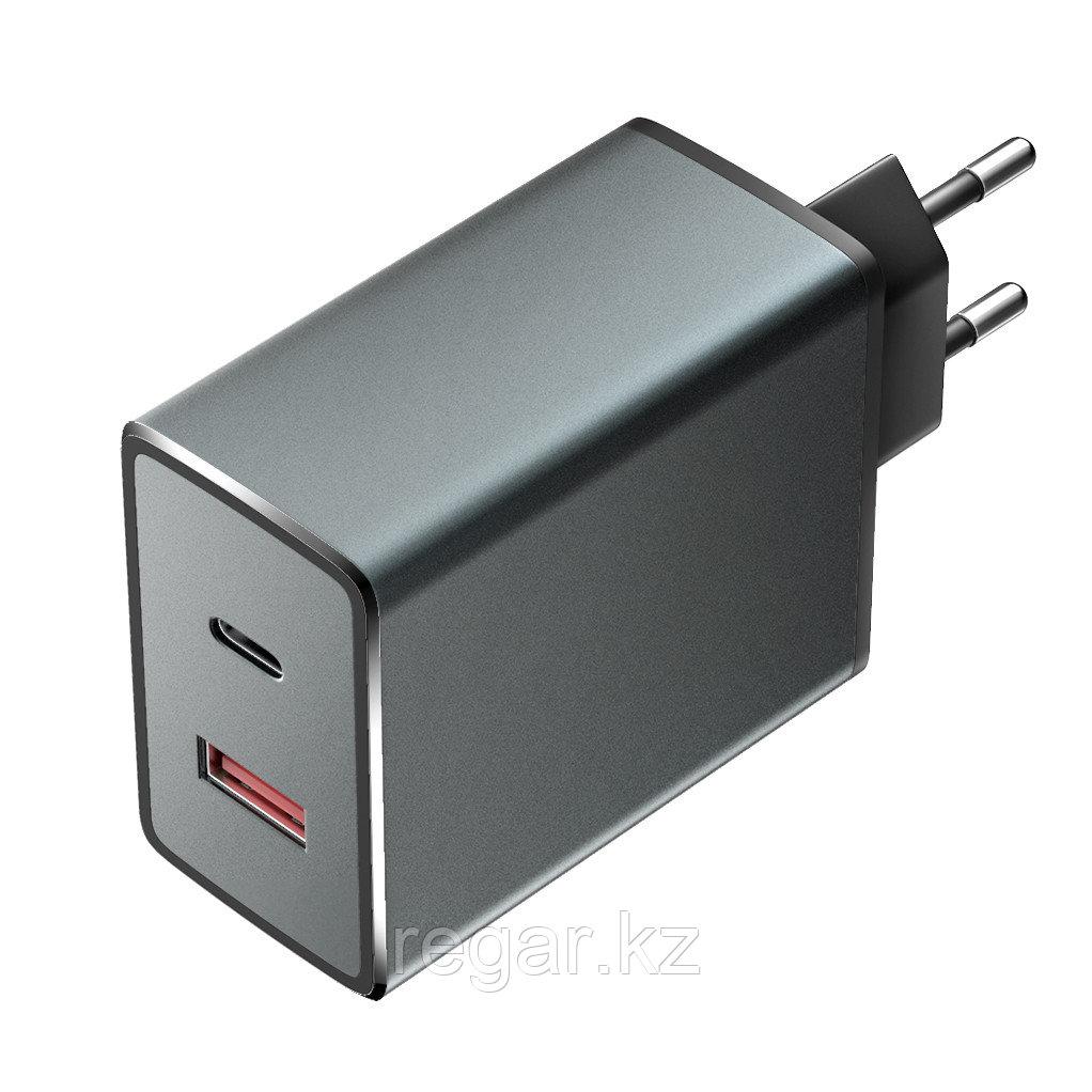 Зарядное устройство сетевое Olmio СЗУ 36W USBx2 6A QC3.0 Type-C PD черный
