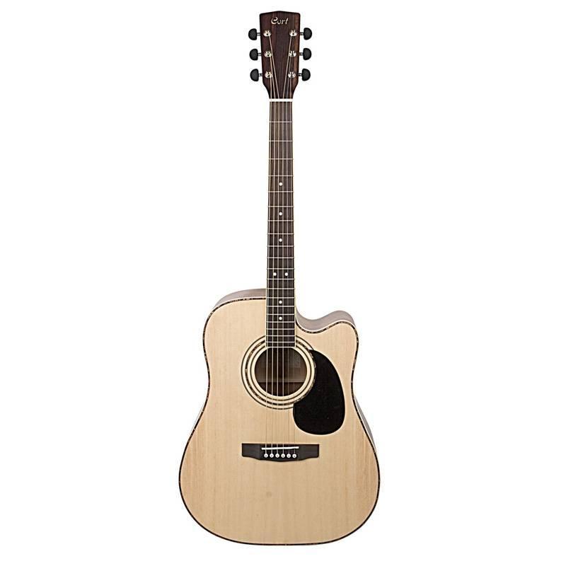 Электро-акустическая гитара, с вырезом, цвет натуральный  Cort AD880CE-NS Standard Series