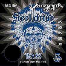 BSD-5M Steel Drive Комплект струн для 5-струнной бас-гитары, сталь, Мозеръ