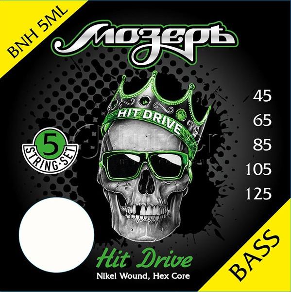 Hit Drive Комплект струн для 5-струнной бас-гитары, никелевый сплав, 45-125, Мозеръ