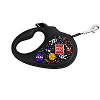 "Поводок рулетка WAUDOG с рисунком ""NASA"" М лента"