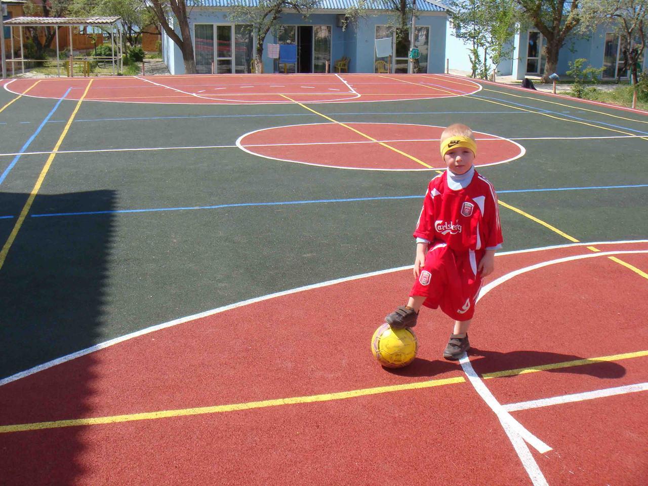 Поле 4в1 Футбол+Волейбол+Баскетбол+Теннис 12мм