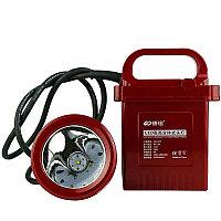 Светодиодный  ручной фонарь шахтерский с большим аккумулятором KM-205