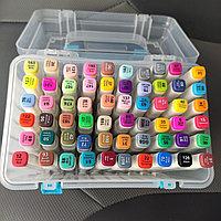 Набор маркеры для скетчинга 60 цветов двусторонние