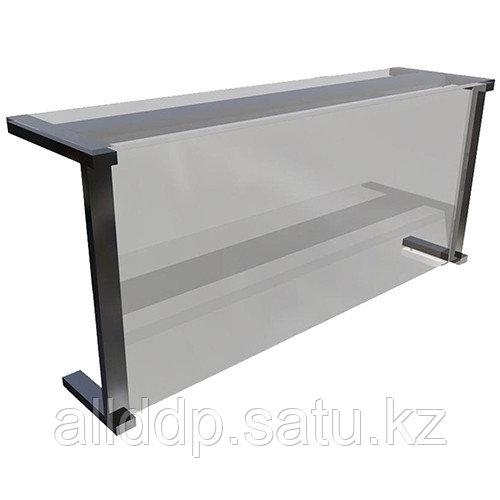 Полка настольная Gastrolux ПН-153/Г(1500х300х400 мм, стекло, Г-обр.)
