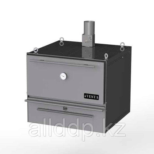Печь-мангал VESTA 50 (932х947х794мм, 110кг/ч, корпус черн. мет.)