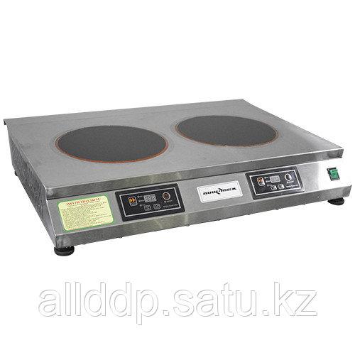 Плита индукционная настольная ПЭИ-20-15-С с сенсорной панелью (450х700х120, 2 конф. 3кВт, 220В)