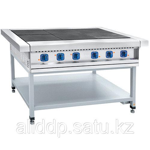 Плита электрическая 6-ти конфорочная без жарочного шкафа ЭП-6П (на окрашенной подставке)