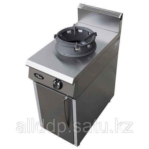 Плита газовая 1-но конфорочная без жароч. шкафа (на подставке) WOK Ф1ДГ/800/50044 (420х800х1050мм,18кВт)
