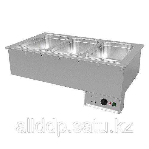 Мармит тепл. встраиваемый для гастроемкосте Gastrolux ВТМ-106/GN(1085х640х352 мм, 2,4 кВт, 220В)
