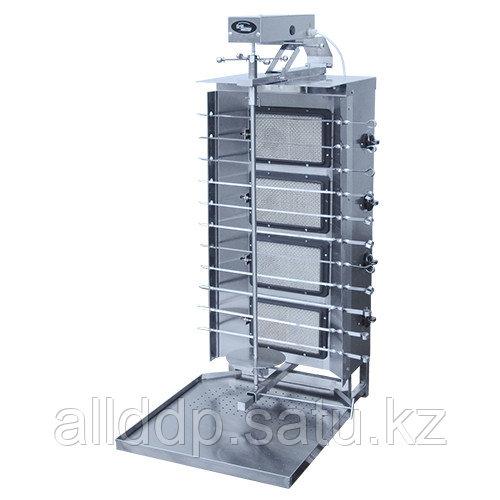 Шаурма-шашлычница газовая Ф4ШмГ/11210 (с мотором) (Шаверма) (532х765х1247мм, 0,64кг/ч)