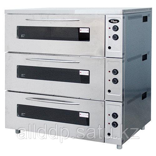 Шкаф жарочный электрический Шжэ/3 (3 секции цельные (неразборные) с пароувлажнением, 1230х930х1260 мм,