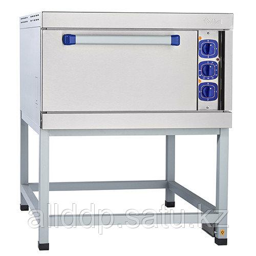 Шкаф жарочный электрический ШЖЭ-1-Э, духовка эмал. (840x900x1080 мм, подставка, лицев. нерж.)