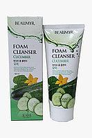 Beaumyr Освежающая и мягкая пенка для умывания с огурцом Cucumber Foam Cleanser / 180 мл.