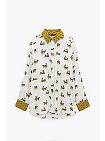 Стильная блузка 44, тигровый принт